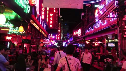 Soi Cowboy - red light area in Bangkok