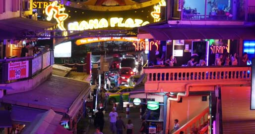 Nana Plaza red light district in Bangkok Thailand