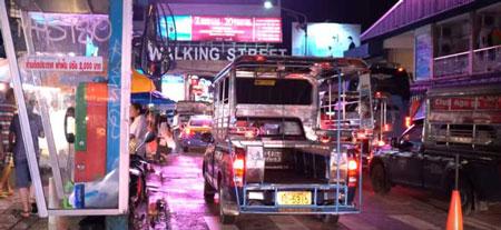 Baht Bus Taxi in Pattaya