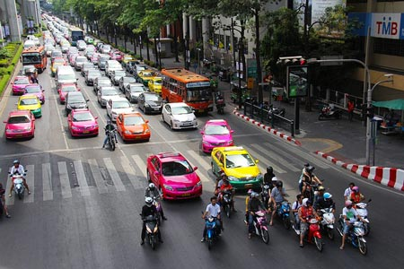 Taxi drivers in Thailand